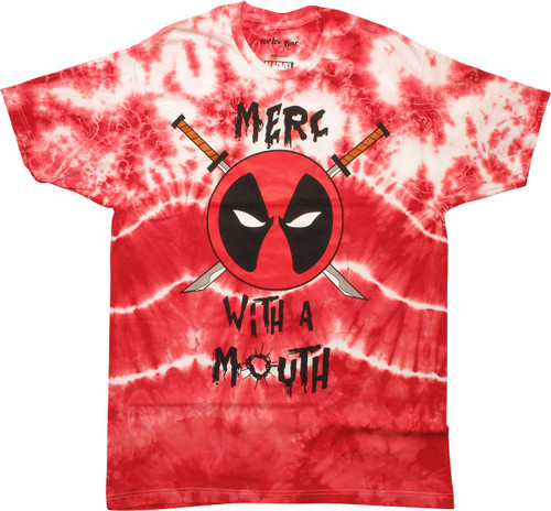 Deadpool Merc with a Mouth Tie Dye MF T-Shirt