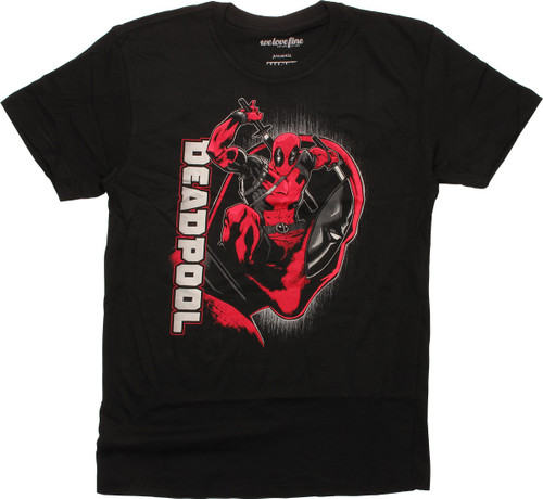 Deadpool Jump Through Face T-Shirt
