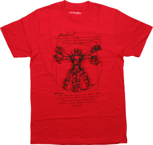 Deadpool Vitruvian Man T-Shirt