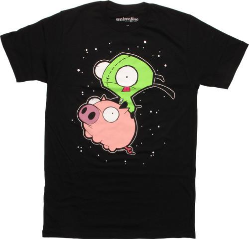 Invader Zim Gir Riding Pig Mighty Fine T-Shirt