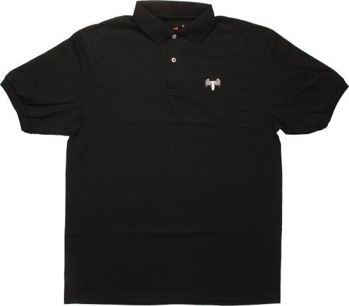 Venom White Spider Logo Mighty Fine Polo Shirt