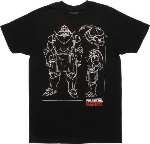 Fullmetal Alchemist Alphonse Elric Outline T-Shirt