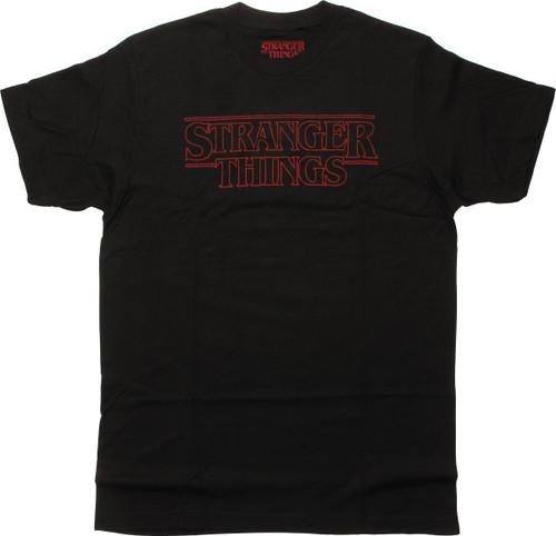 Stranger Things Outline Title T-Shirt