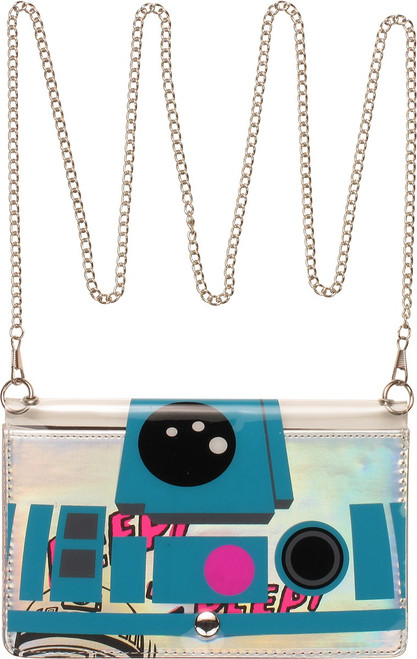Star Wars R2-D2 Clear Front Chain Clutch Wallet