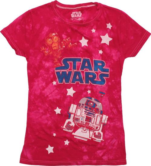 Star Wars Droids Tie Dye Juniors T-Shirt