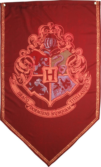 Harry Potter Hogwarts Crest Banner Flag