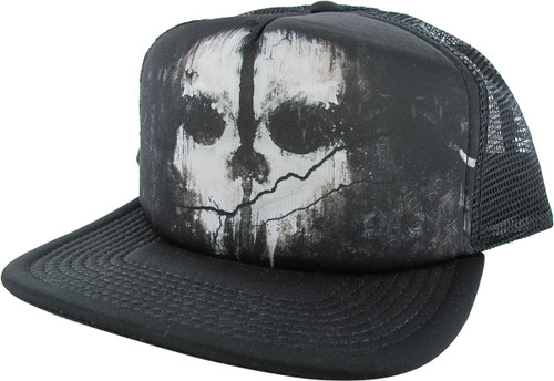 4018ec09845 Call of Duty Skull Trucker Snapback Hat hat-call-of-duty-ghosts-trucker-snp