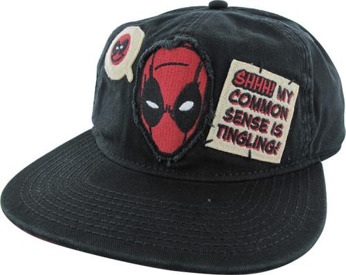 Deadpool Common Sense Snapback Hat