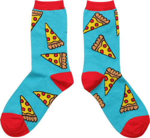 Pepperoni Pizza Slices Ladies Crew Socks