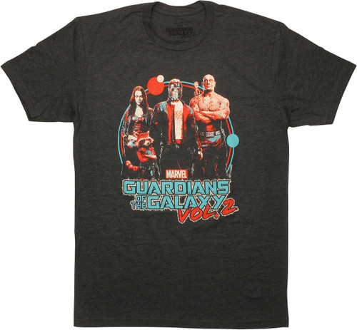 Guardians of the Galaxy Vol. 2 Movie Retro T-Shirt