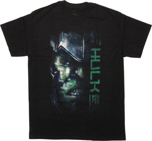 Incredible Hulk Thor Ragnarok Half Helmet T-Shirt