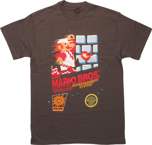 Super Mario Brothers NES Box Artwork T-Shirt