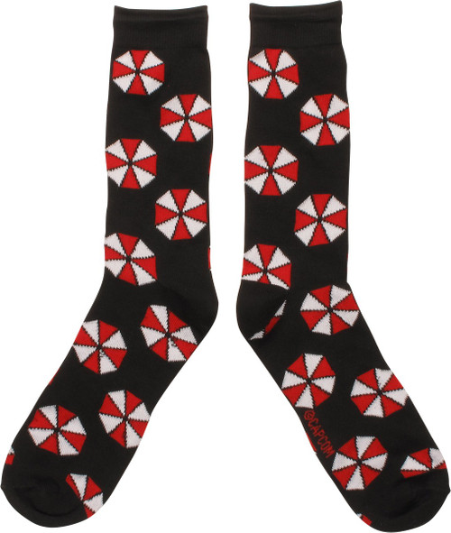 Resident Evil Umbrella Logo Crew Socks