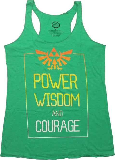 Zelda Power Wisdom and Courage Ladies Tank Top