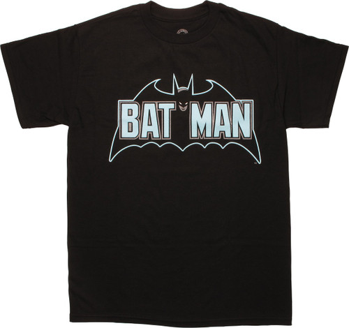 Batman Retro Verbiage Logo T-Shirt
