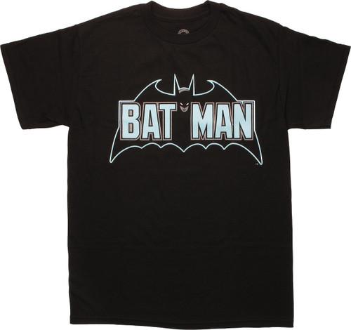 Batman Retro Verbiage Logo T-Shirt