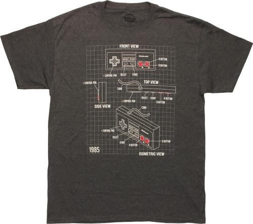 Nintendo NES Controller Schematic T-Shirt