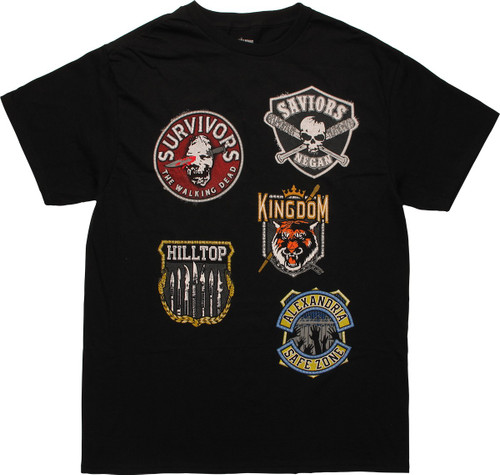 Walking Dead Patch Collection T-Shirt