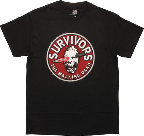 Walking Dead Survivors Faux Patch T-Shirt