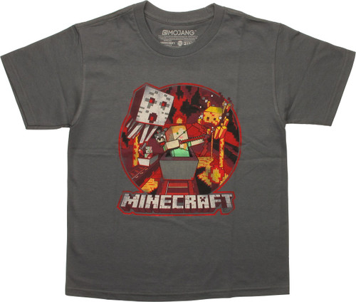 Minecraft Alex Mine Fight Youth T-Shirt