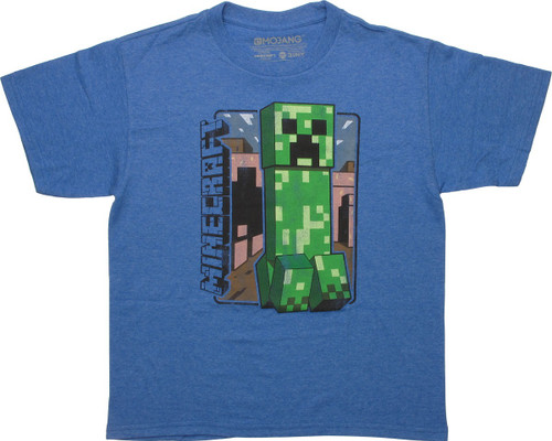 Shirt Boys 4  5//6  7  6//8  10//12  14//16  18//20 MINECRAFT Retro CREEPER T