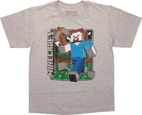 Minecraft Vintage Steve Youth T-Shirt