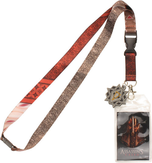 Assassins Creed Star Amulet Charm Lanyard