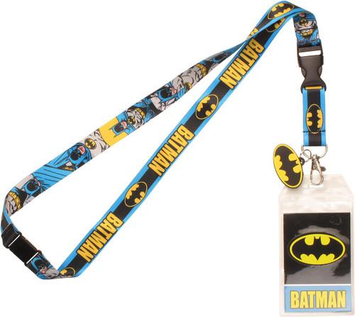 Batman Name Comic Charm Lanyard