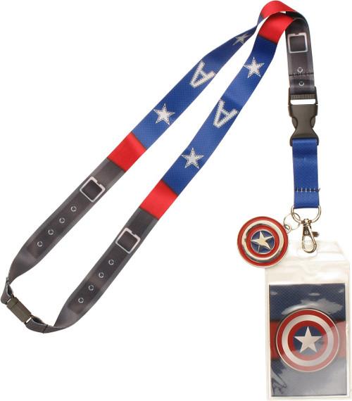 Captain America Suit Up Metal Charm Lanyard