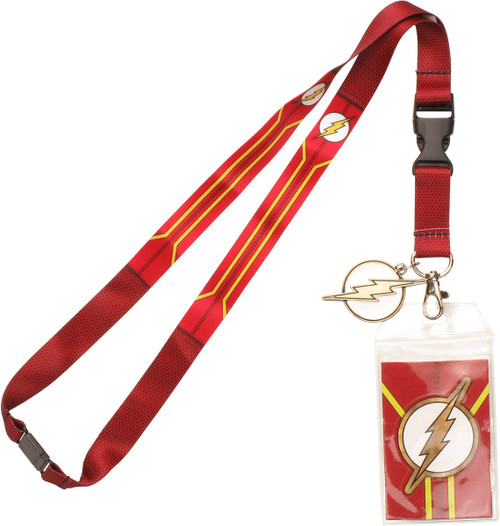 Flash Suit Up Metal Charm Lanyard