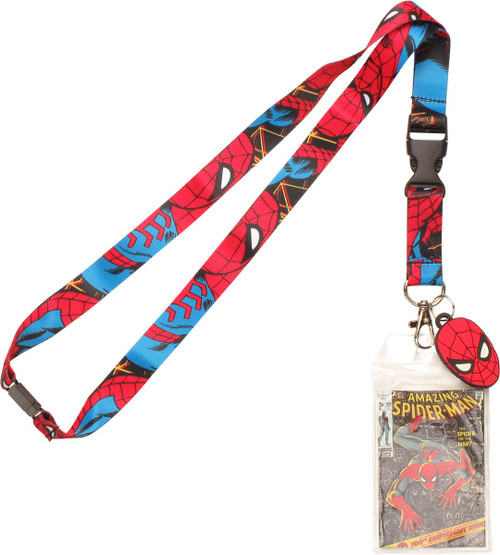 Spiderman Crawl All Over Charm Lanyard