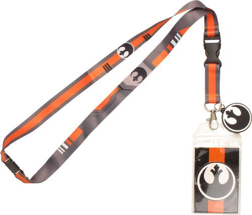 Star Wars Rebel Stripes Charm Lanyard