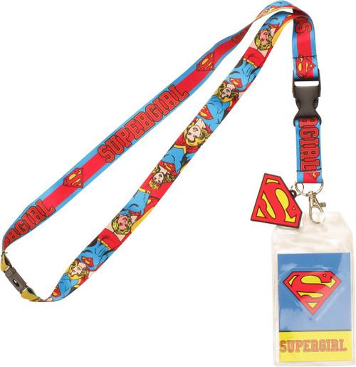 Supergirl Poses Charm Lanyard