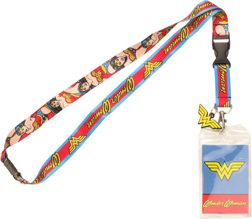 Wonder Woman Poses Charm Lanyard