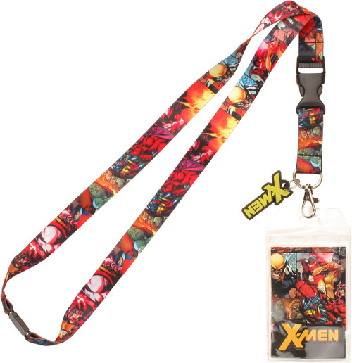 X Men Comic Panels Name Charm Lanyard
