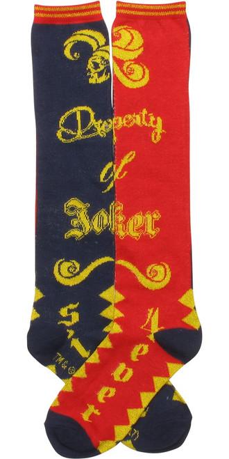 Suicide Squad Property of Joker Knee High Socks