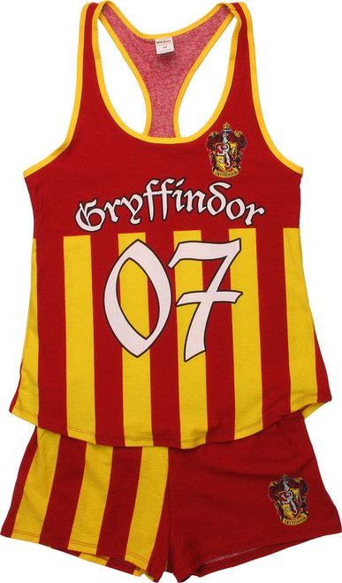 Harry Potter Gryffindor Tank Shorts Pajama Set