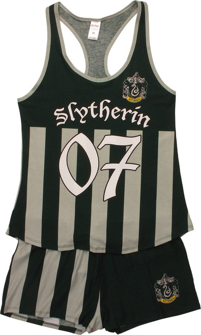Harry Potter Slytherin Tank Shorts Pajama Set