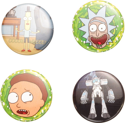 Rick and Morty Characters Button Set