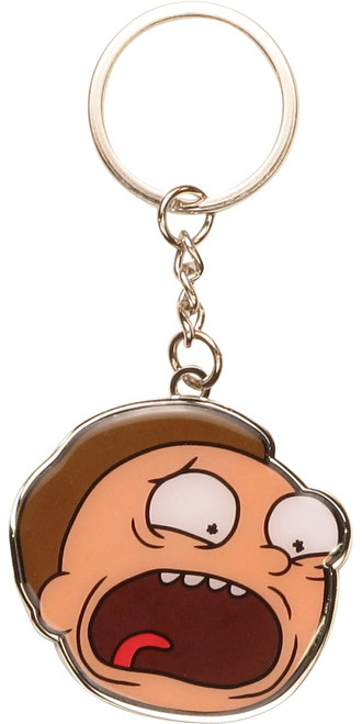 Rick and Morty Morty Scream Metal Keychain