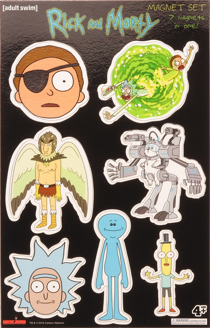 Rick and Morty Characters Magnet Set