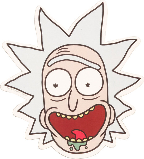 Rick and Morty Rick Face Car Magnet