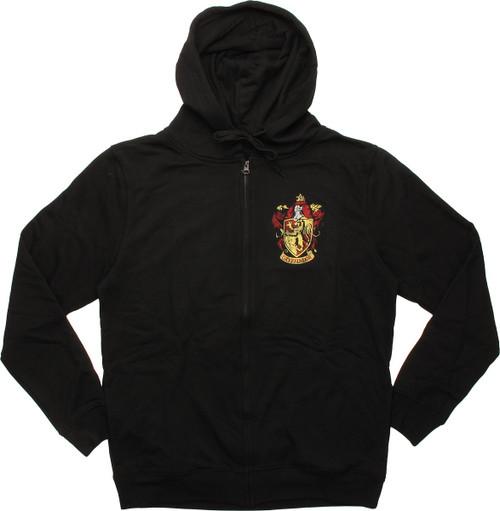 Harry Potter Gryffindor Crest Zip Hoodie