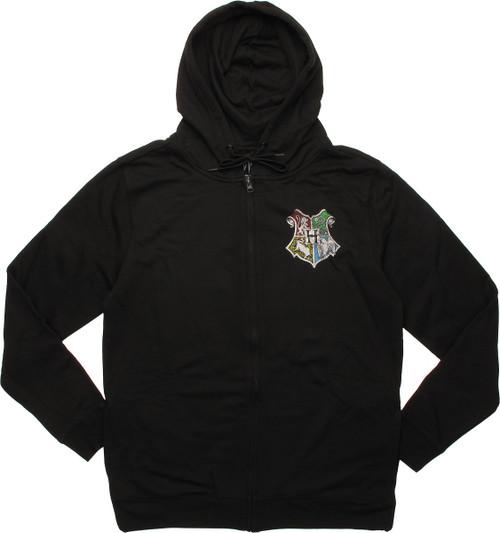 Harry Potter Hogwarts Crest Zip Hoodie
