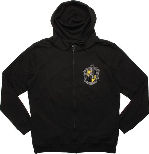 Harry Potter Hufflepuff Crest Zip Hoodie