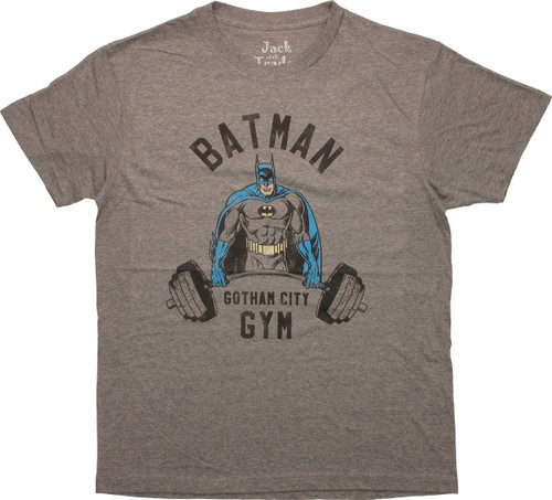 Batman Lift Weights Gotham Gym T-Shirt Sheer