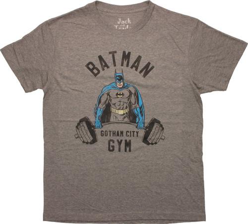 Batman Lift Weights Gotham Gym T-Shirt Sheer