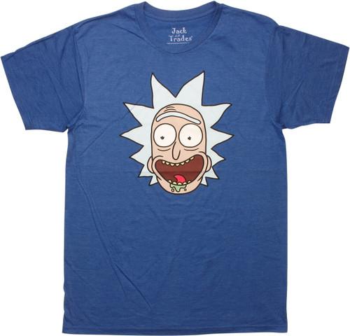 Rick and Morty Rick Head Shot T-Shirt Sheer
