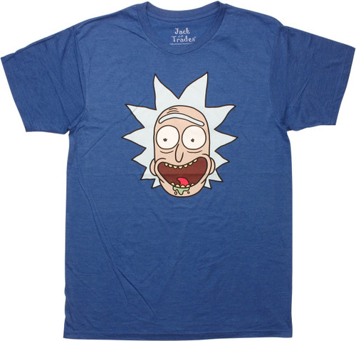 Rick and Morty Rick Head Shot T-Shirt Sheer