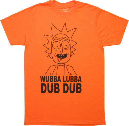 Rick and Morty Outline Wubba Lubba T-Shirt Sheer